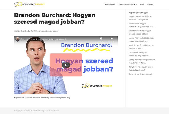 Brendon Burchard előadása
